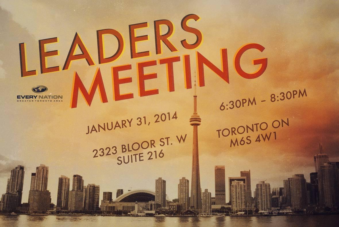 Calendar Monthly January : Leader s meeting every nation gta church toronto